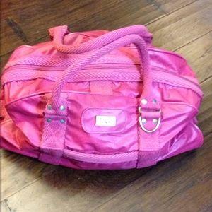 Diane Von Furstenberg Berry Pink Duffle Bag